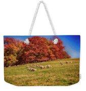 Sheep In The Autumn Meadow Weekender Tote Bag