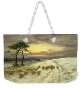 Sheep In The Snow Weekender Tote Bag