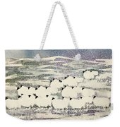 Sheep In Winter Weekender Tote Bag
