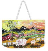 Sheep On Sunny Summer Day Weekender Tote Bag