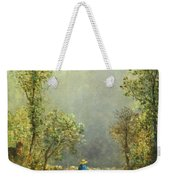 Sheep Watching A Storm Weekender Tote Bag