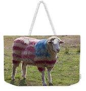 Sheep With American Flag Weekender Tote Bag by Garry Gay
