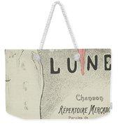 Sheet Music Aubade A La Lune Weekender Tote Bag