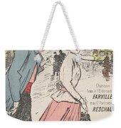 Sheet Music Dans Lxviiieme By Achille Bloch And Louis Byrec, Performed By Farville And Reschal Theo Weekender Tote Bag