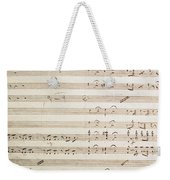 Sheet Music For The Barber Of Seville By Rossini  Weekender Tote Bag