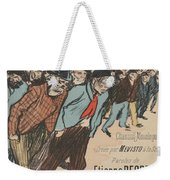 Sheet Music Le Roi Misere By Etienne Decrept And Leopold Gangloff, Performed By Mevisto Theophile Al Weekender Tote Bag