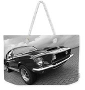Shelby Gt500kr 1968 In Black And White Weekender Tote Bag