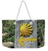Shell And Arrow Marker, El Camino, Spain Weekender Tote Bag