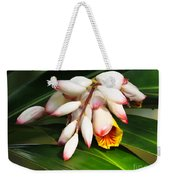 Shell Ginger Flowers Weekender Tote Bag