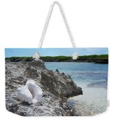 Shell On Dominican Shore Weekender Tote Bag