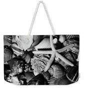 Shells And Starfish In Black And White Weekender Tote Bag