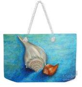 Shells In Blue Weekender Tote Bag