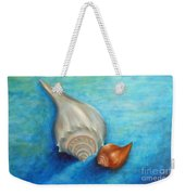 Shells In Blue Weekender Tote Bag