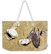 Shells On The Beach Of Jekyll Weekender Tote Bag