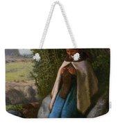 Shepherdess Seated On A Rock Weekender Tote Bag