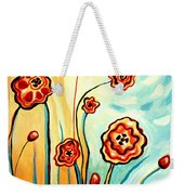 Sherbert And Powder Blue Skies Weekender Tote Bag