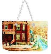 Sherbrooke In Winter Weekender Tote Bag