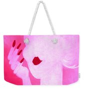 She's A Lady Very Pink Weekender Tote Bag