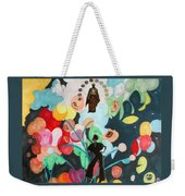 She's Thinking Of Listening Weekender Tote Bag