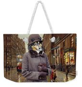 Shetland Sheepdog Art Canvas Print - Charleston Blue Weekender Tote Bag