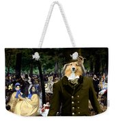 Shetland Sheepdog Art Canvas Print - Music In The Tuileries Gardens Weekender Tote Bag