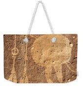 Shield Figure With Weapons Petroglyph Weekender Tote Bag