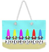 Shih Tzu Surf Jersey Weekender Tote Bag