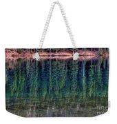 Shimmering Green Weekender Tote Bag