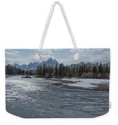 Shimmering Snake River And The Tetons Weekender Tote Bag