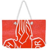 Shin Detonator Upturned Skull Red Weekender Tote Bag