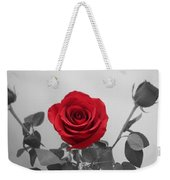 Shining Red Rose Weekender Tote Bag