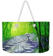 Shinto Lantern In Bamboo Forest Weekender Tote Bag