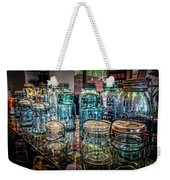 Shiny Glass Jars Weekender Tote Bag