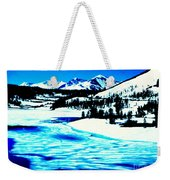 Shiny Snow Magic On Lake Weekender Tote Bag