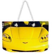 Shiny Yellow Corvette Convertible  Weekender Tote Bag