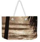 Ship In Sunset Weekender Tote Bag