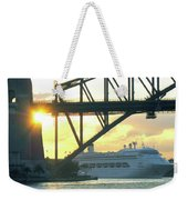 Ship Under Sydney Harbour Bridge Weekender Tote Bag