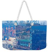 Shipping Containers And Building Windows Reflecting Graffiti  Art Of Valparaiso-chile Weekender Tote Bag