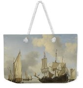 Ships At Anchor On The Coast  Willem Van De Velde II C 1660 Weekender Tote Bag