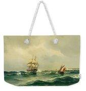 Ships At Sea Weekender Tote Bag