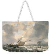 Ships On A Choppy Sea Weekender Tote Bag