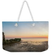 Shipwreck Sunset Panorama  Weekender Tote Bag