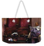 Shoes - Lee's Shoe Shine Stand Weekender Tote Bag by Mike Savad
