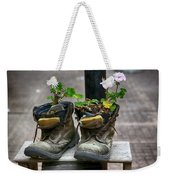 Shoes On A Montevideo Street Weekender Tote Bag