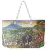 Shopping Family In Mall Weekender Tote Bag