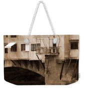 Shops On The Ponte Vecchio Weekender Tote Bag