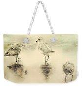 Shore Birds At Sunset Weekender Tote Bag