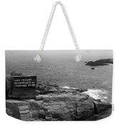 Shoreline And Shipwreck - Portland, Maine Bw Weekender Tote Bag