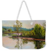 Shoreline At Evening Weekender Tote Bag