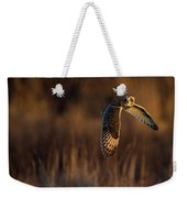 Short-eared Owl Banking Weekender Tote Bag
